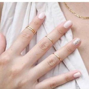 5pcs Gold Midi Rings